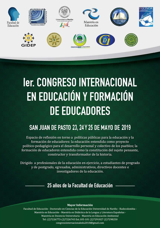 AFICHE CONGRESO INTERNACIONAL EN EDUCACION 2019