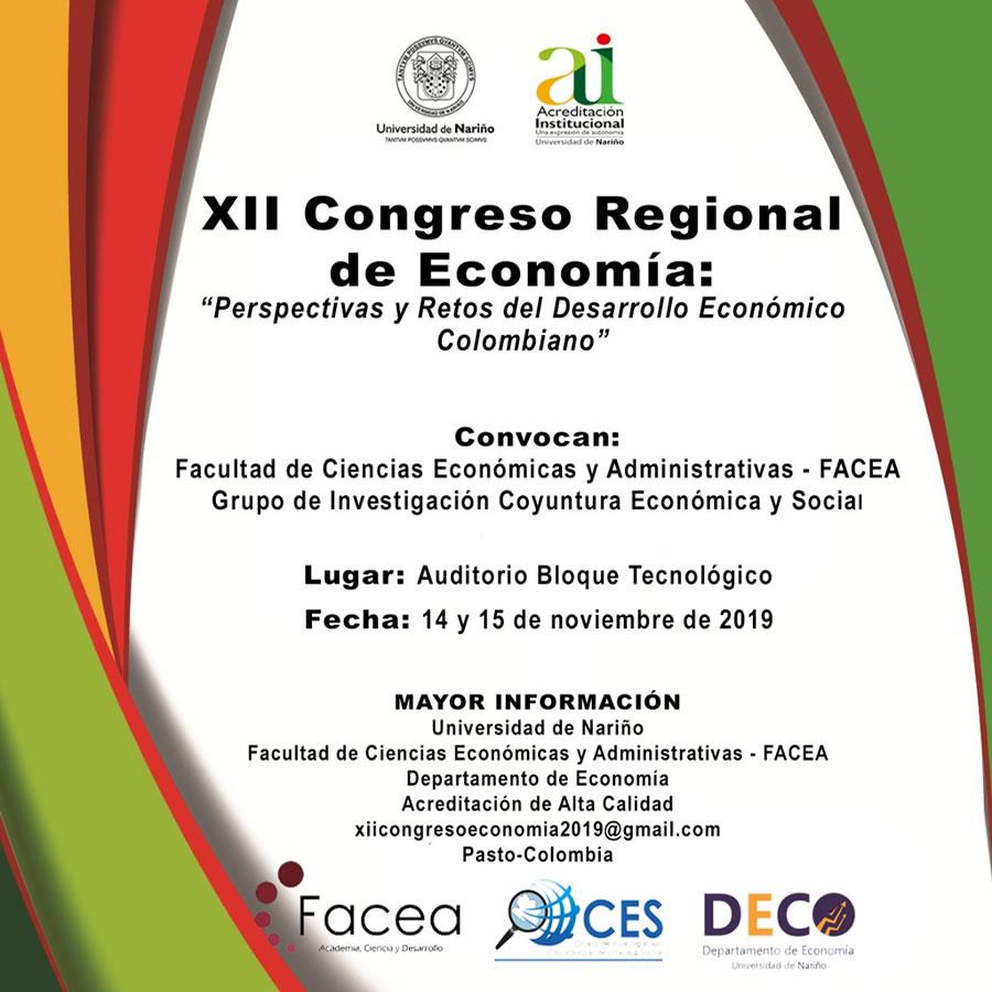 XII Congreso Regional de Economia-2