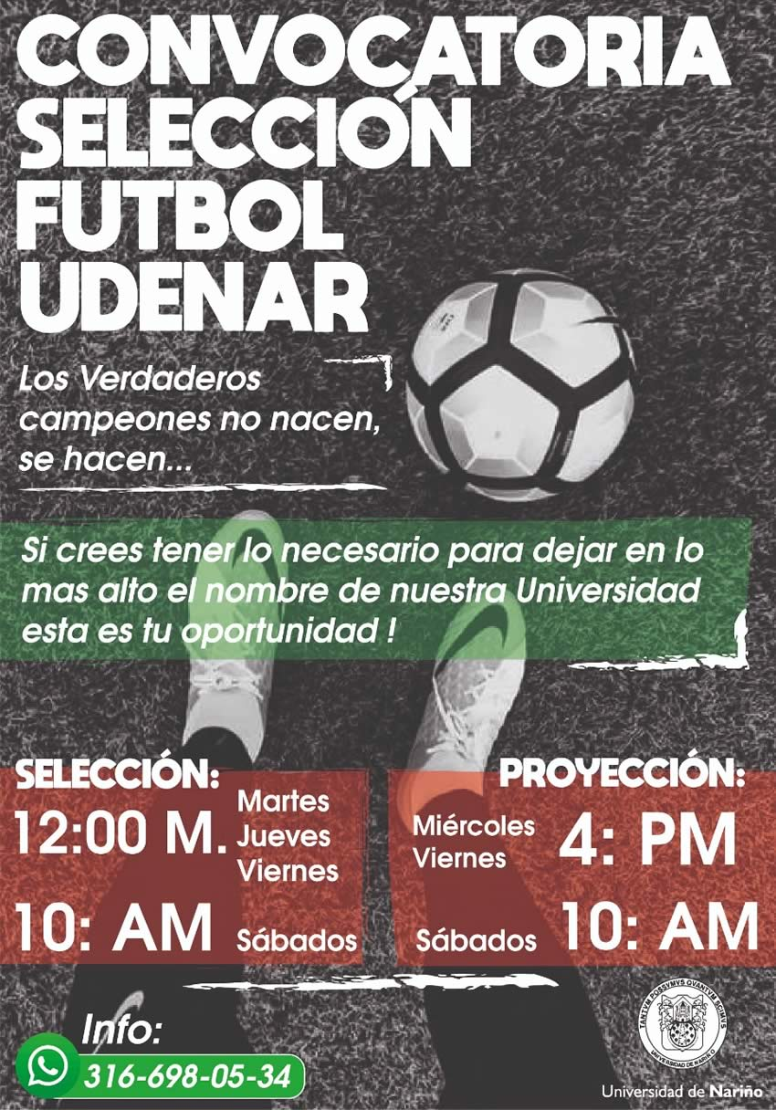 Convocatoria seleccion de Futbol