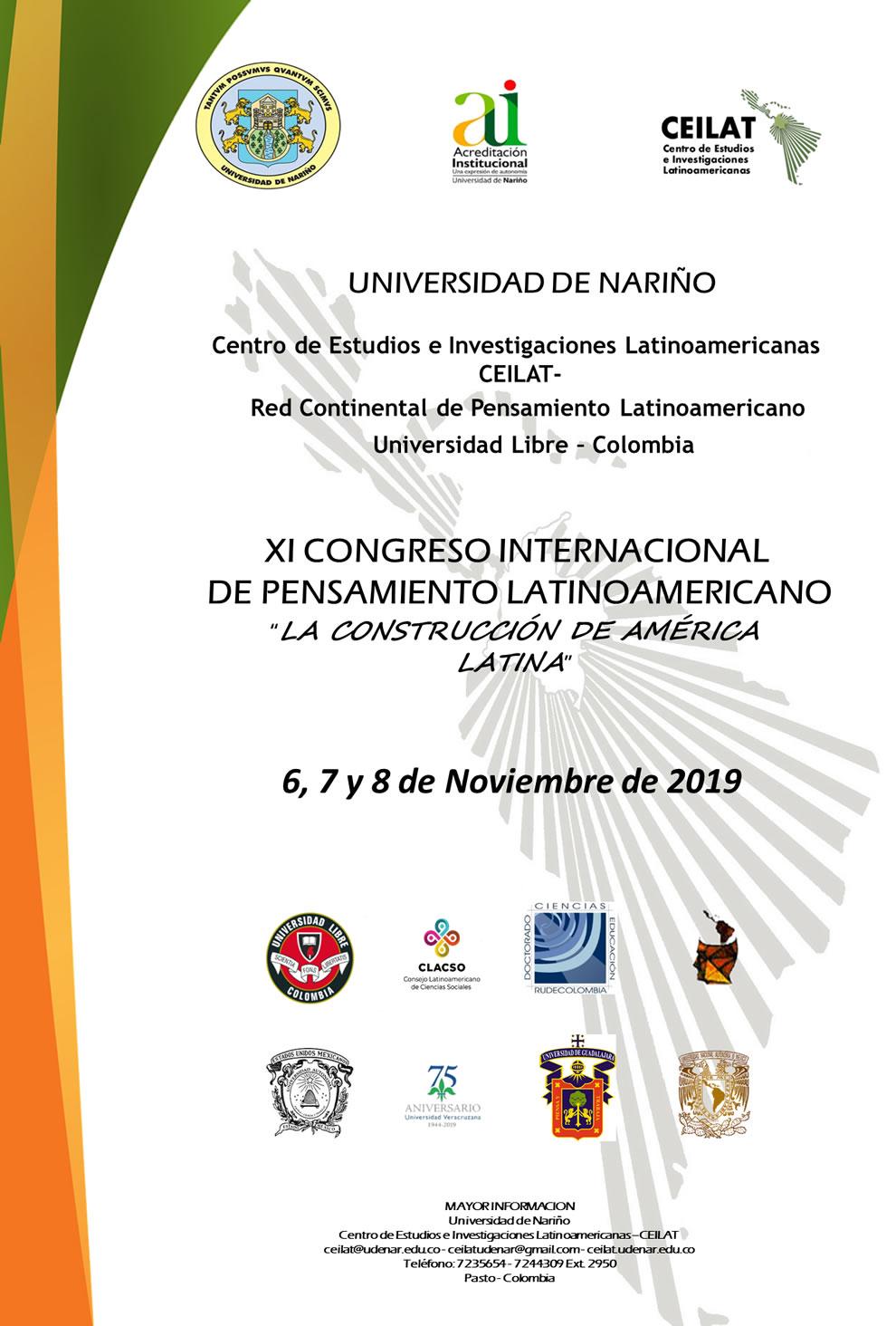 afiche congreso pensamiento latinoamericano