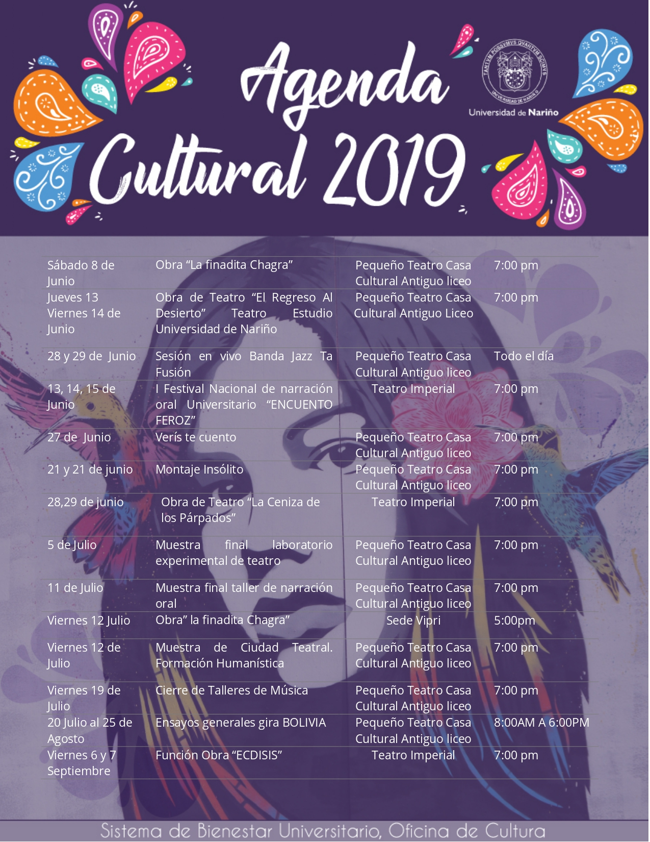 AGENDA CULTURAL 2019-6