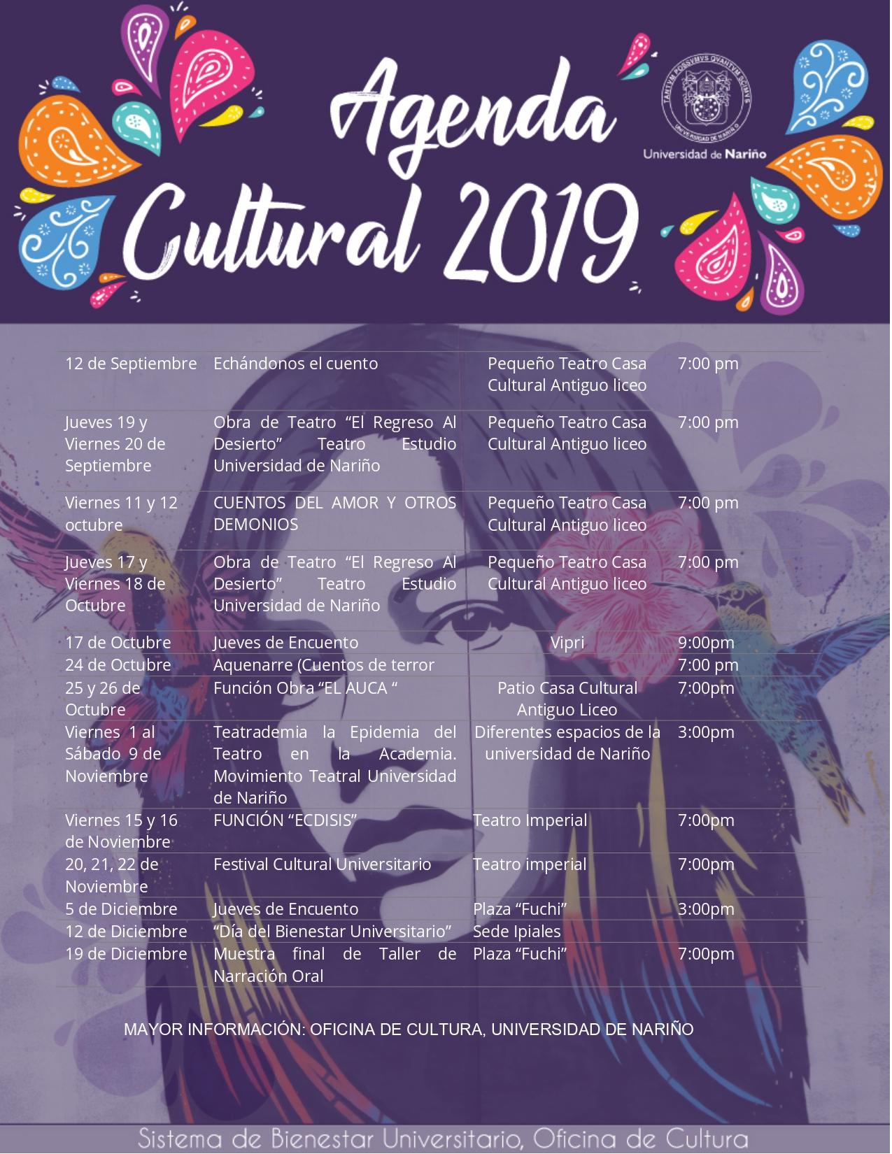 AGENDA CULTURAL 2019-7