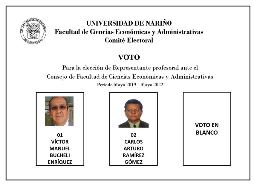 Tarjeton Elecciones FACEA