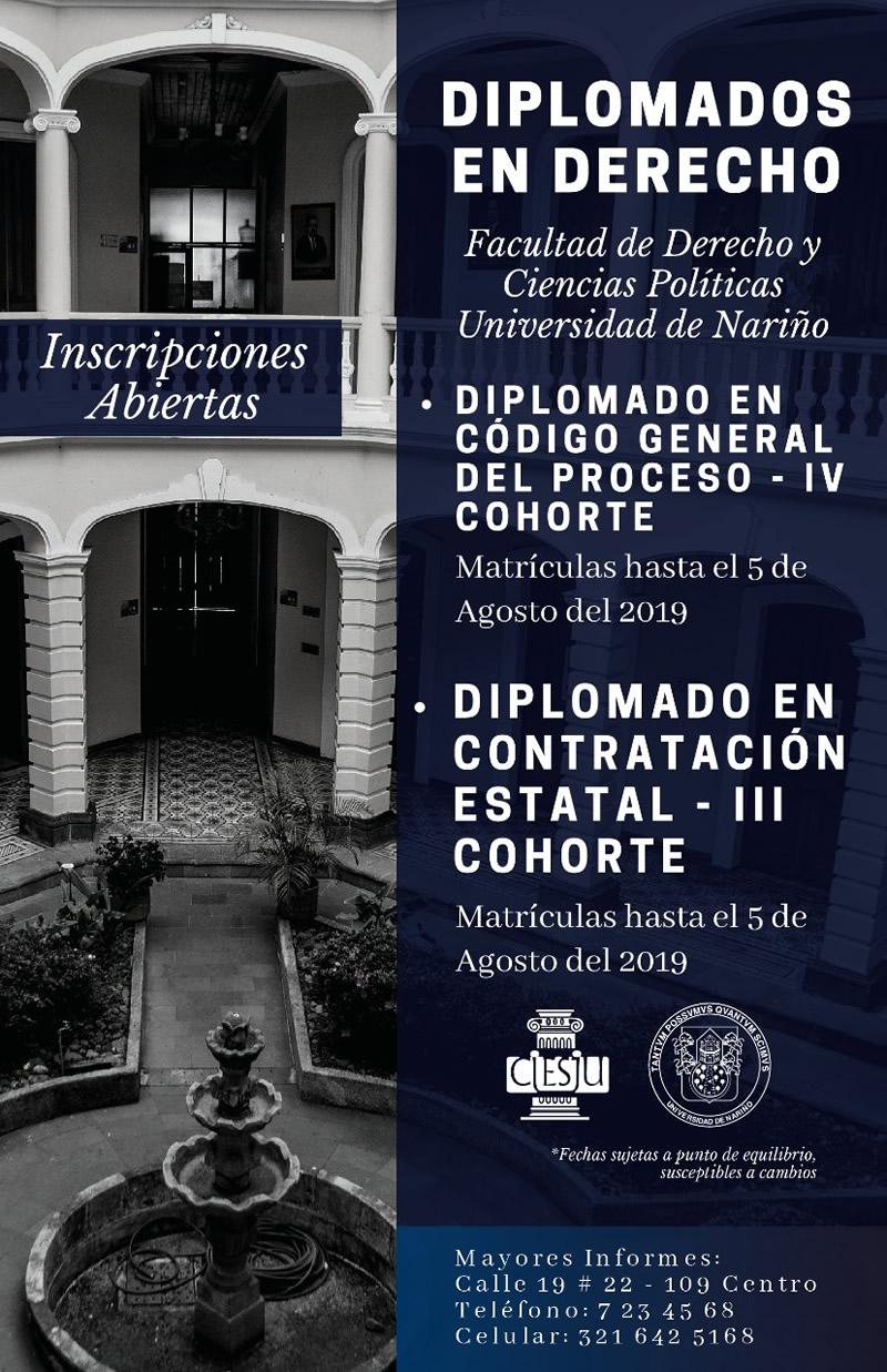 Diplomados derecho 2019