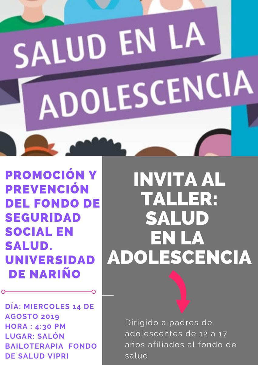 Taller SALUD ADOLESCENTE-poster