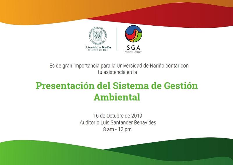 Invitacion presentacion SGA