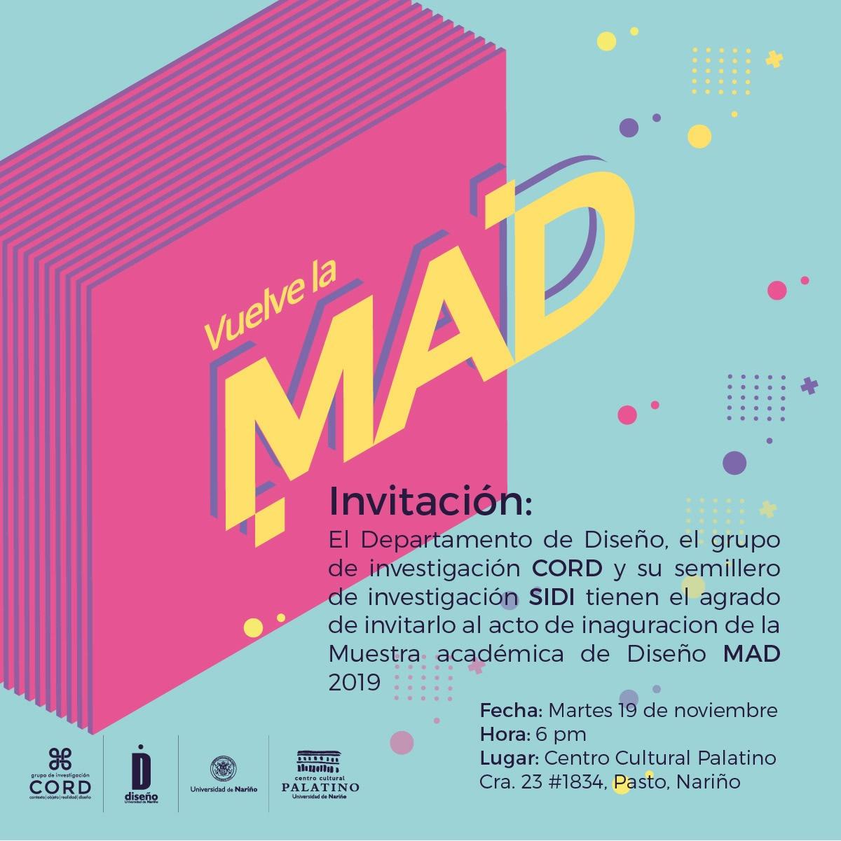 MAD 2019 invitacion