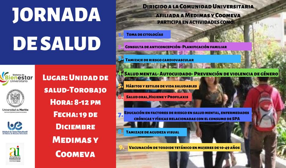 Afiche Jornada de Salud 19-12-19