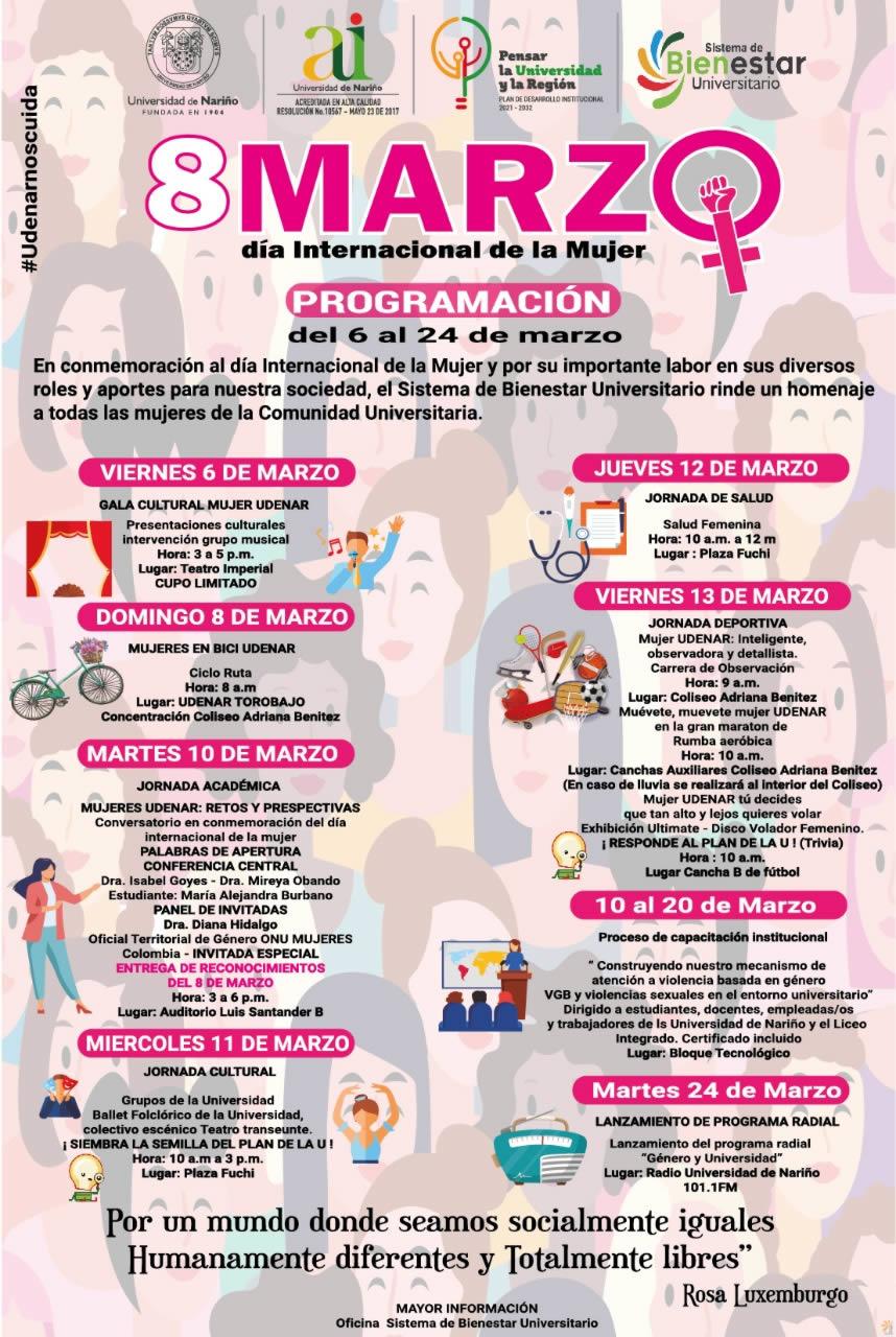 Programacion Conmemoracion dia de la mujer
