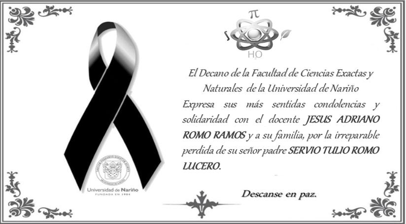 condolencias Profesor Jesus Adriano Romo