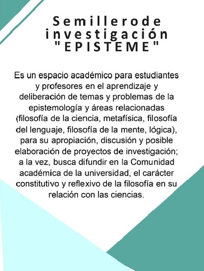 Invitacion semillero EPISTEME 2