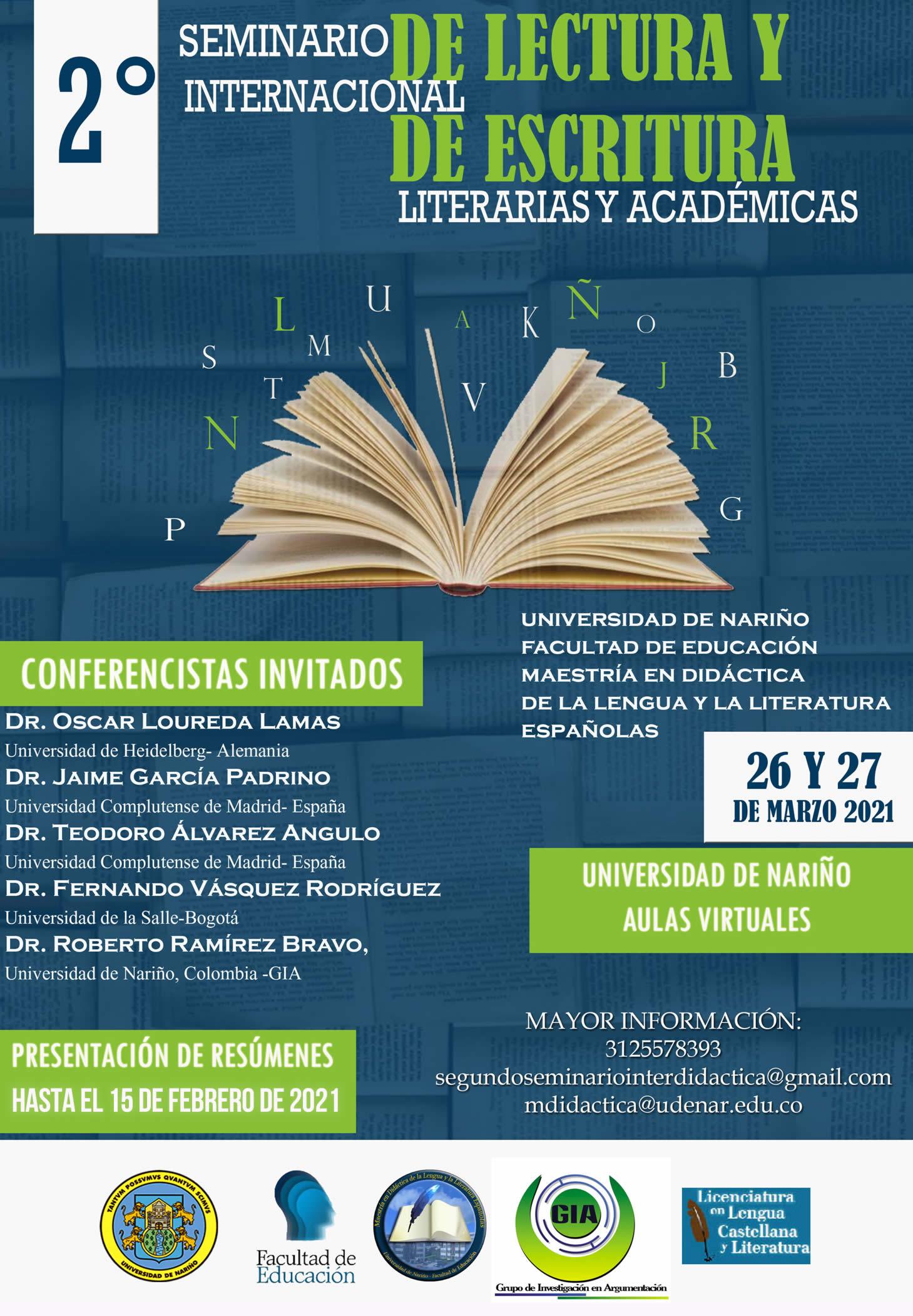 2 seminario internacional lectura escritura 2021