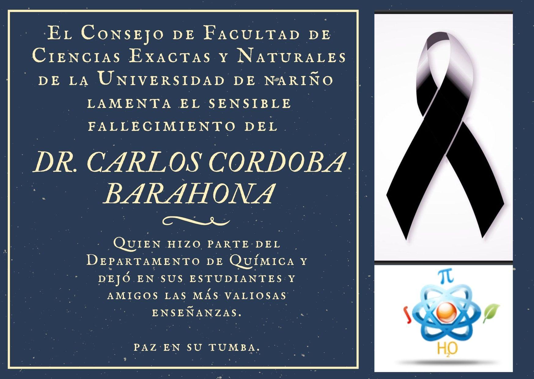 Condolencias Dr. Barahona