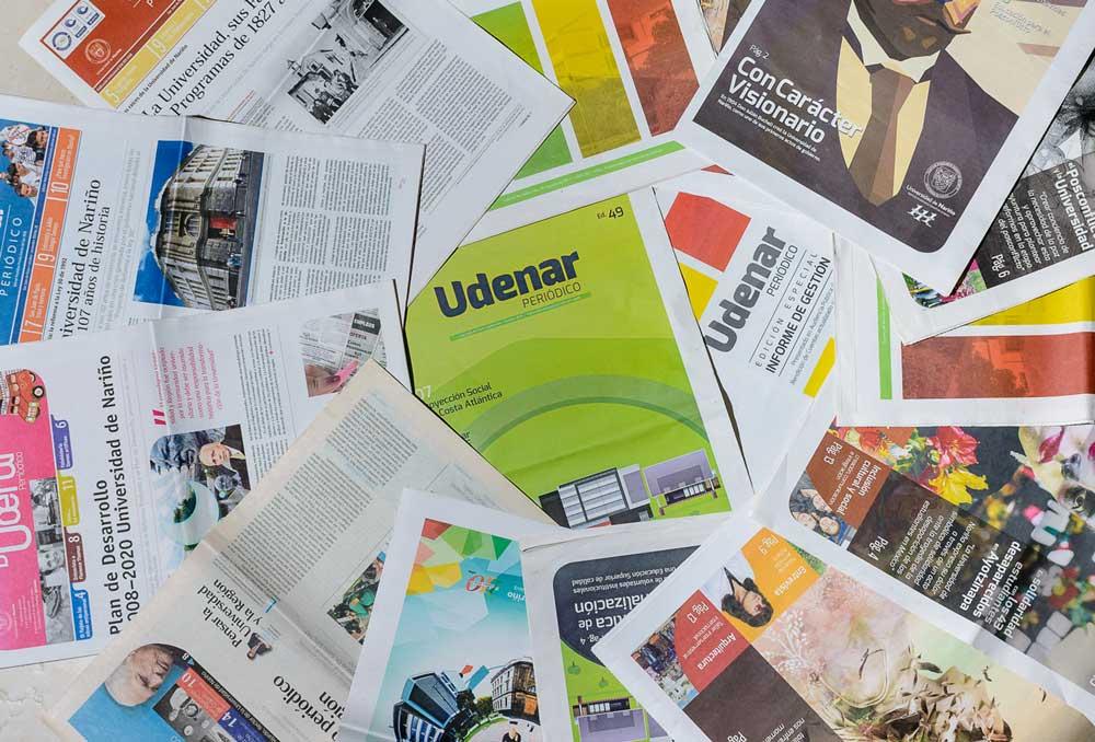 Ediciones de Udenar Periódico en su versión impresa.